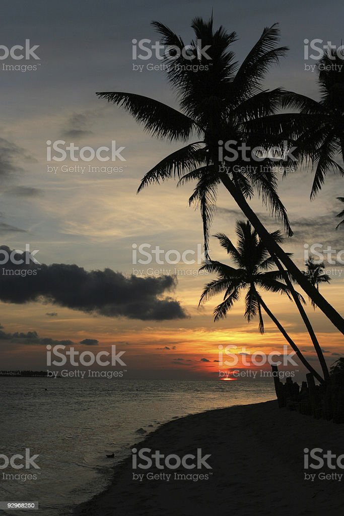 Indonesia Sunset stock photo