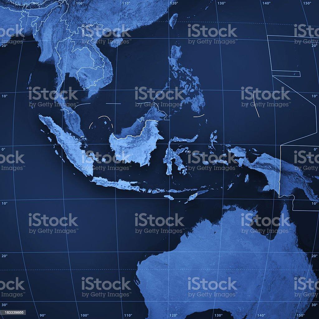 Indonesia Topographic Map stock photo