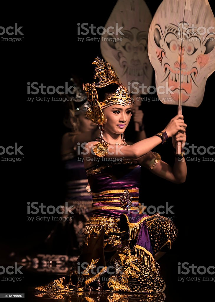 Indonesia traditional dancer stock photo