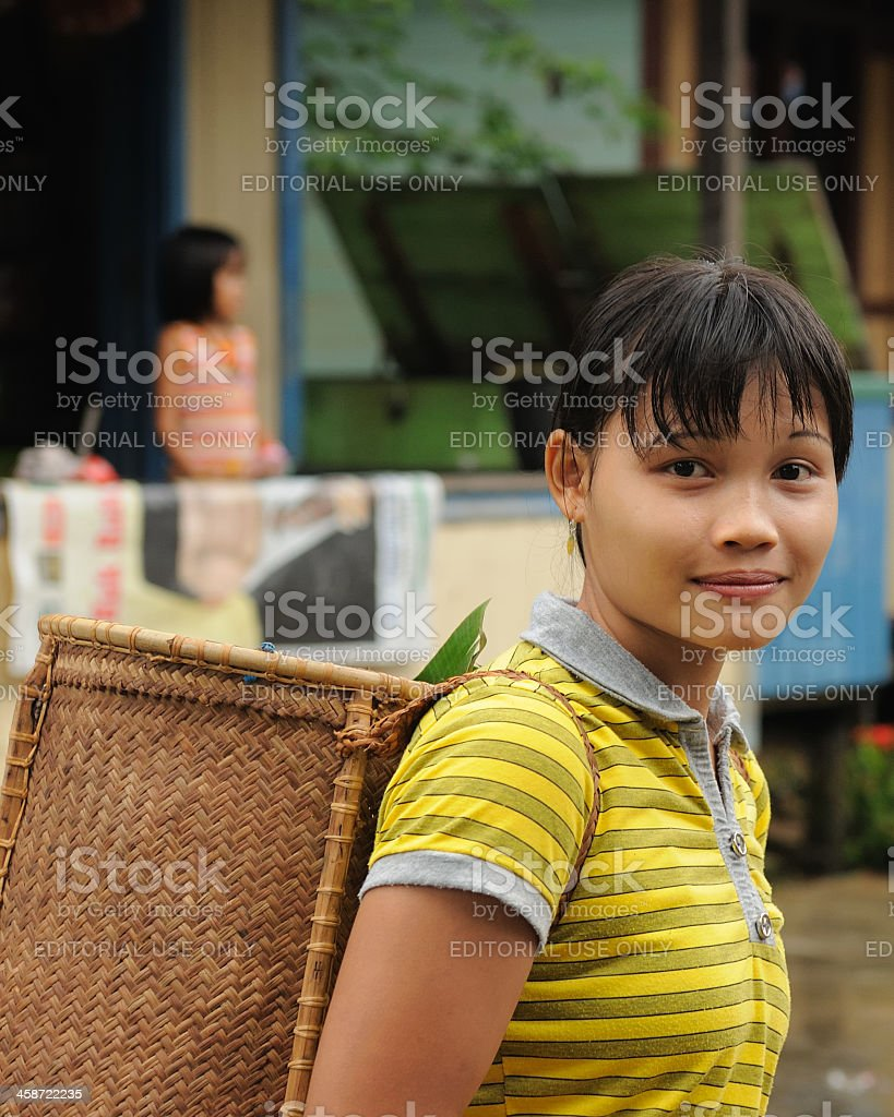 Indonesia - Traditional Dayak tribal culture, Borneo stock photo