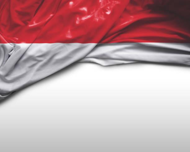 indonésia acenando a bandeira - bandeira da indonesia - fotografias e filmes do acervo