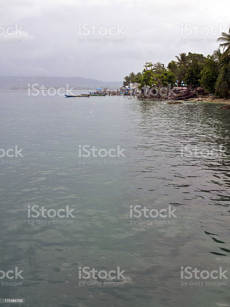 Indonesia, West Papua, Manokwari Harbor. royalty-free stock photo