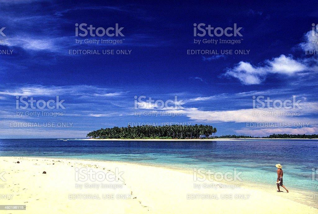 Indonesia, West Sumatra, Mentawai Islands. stock photo