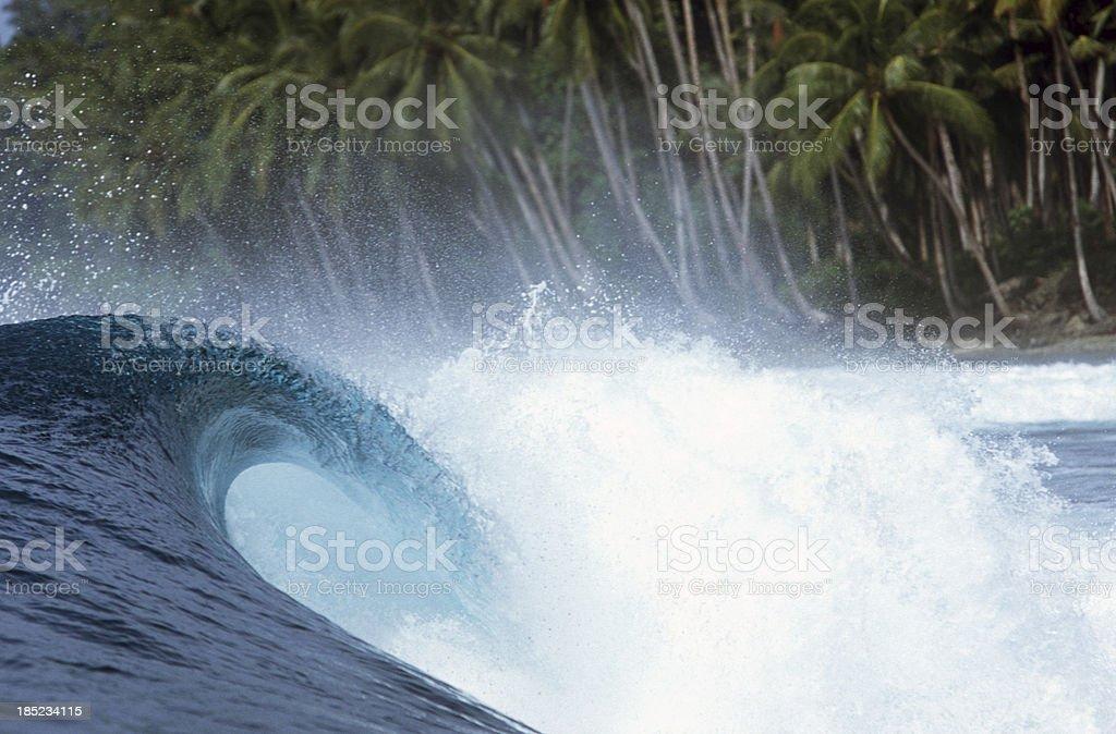 Indonesia, West Sumatra Province, Mentawai Islands, ocean wave. stock photo