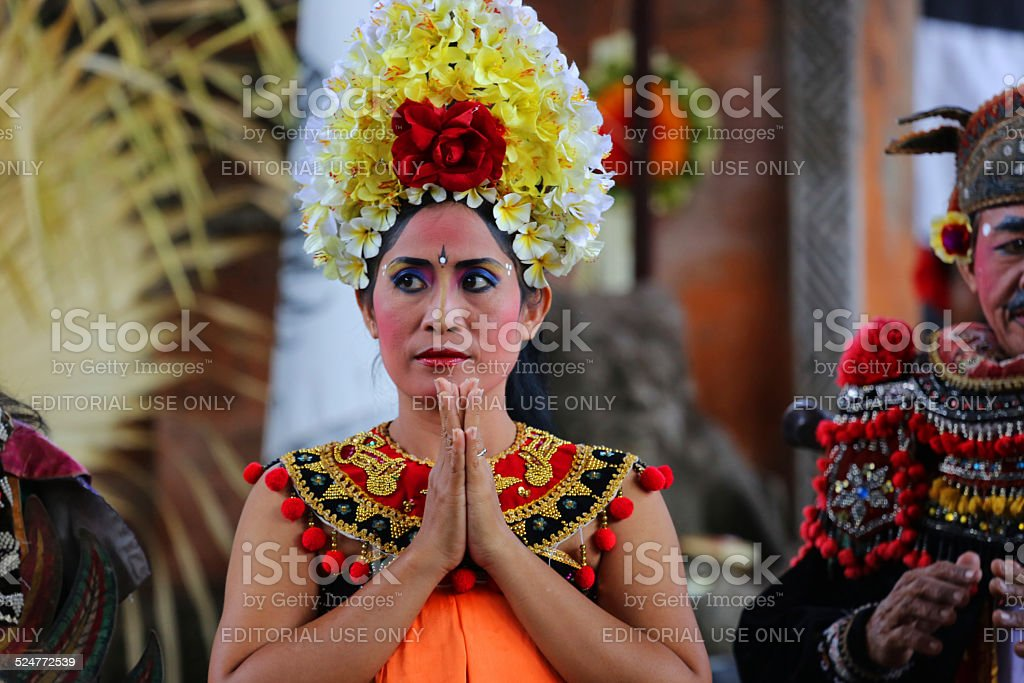 Indonesia Woman In Traditional Clothing In Bali Stock Photo More