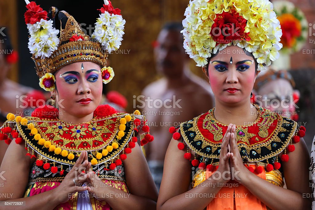 Indonesia: Women in Traditional Clothing in Bali stock photo