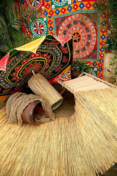 Indonesian art craft background stock photo