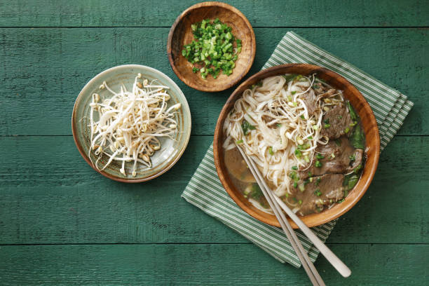 indonesian beef noodles soup (mie kocok) - mie kocok potret stok, foto, & gambar bebas royalti