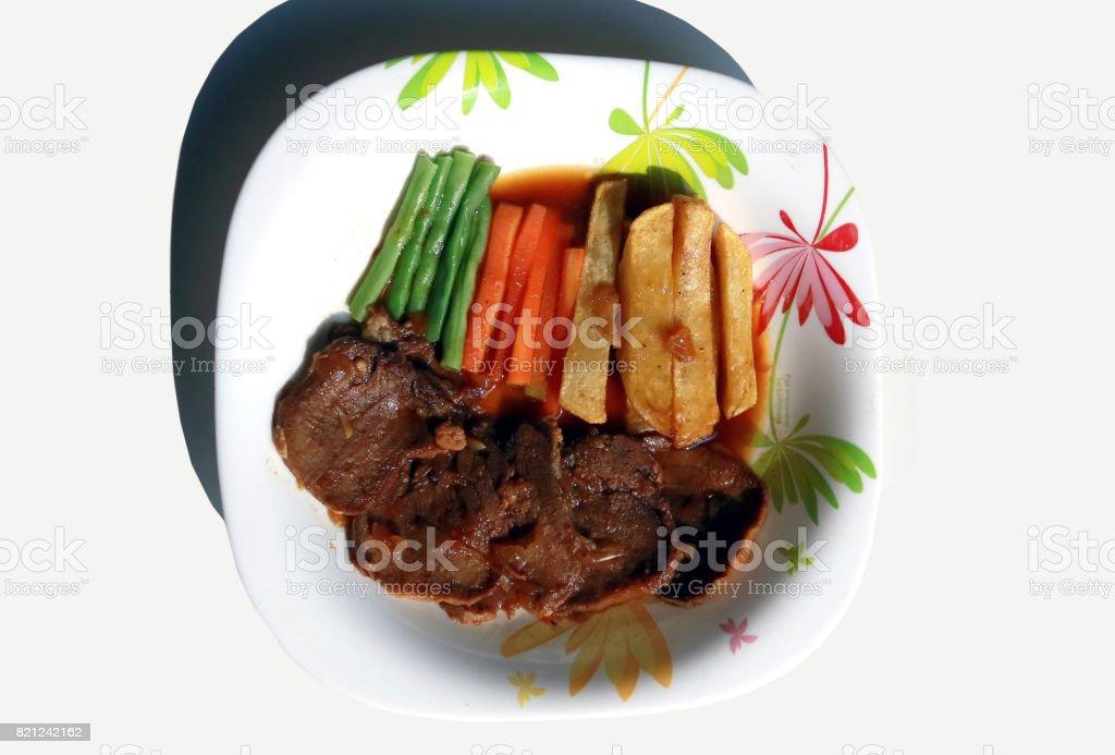 Indonesian beef steak stock photo