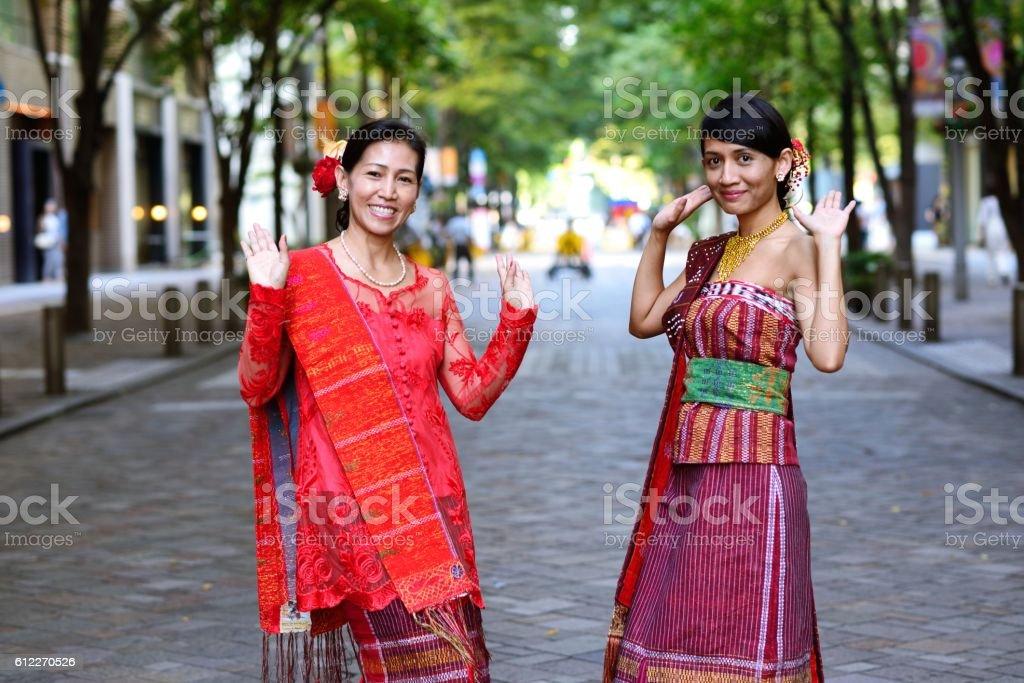 Indonesian dance stock photo