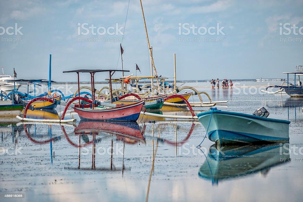 Indonesian Fishing Boats stock photo