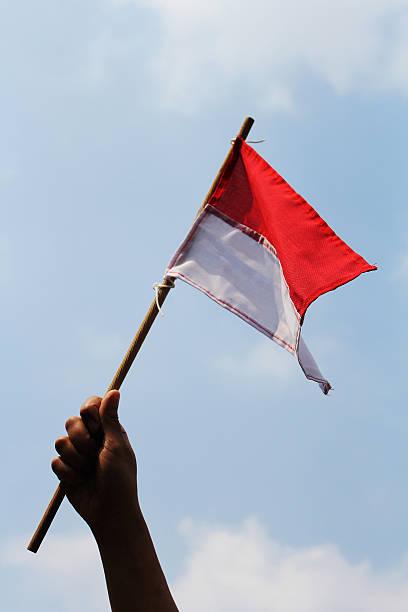 banderia indonésia - bandeira da indonesia - fotografias e filmes do acervo
