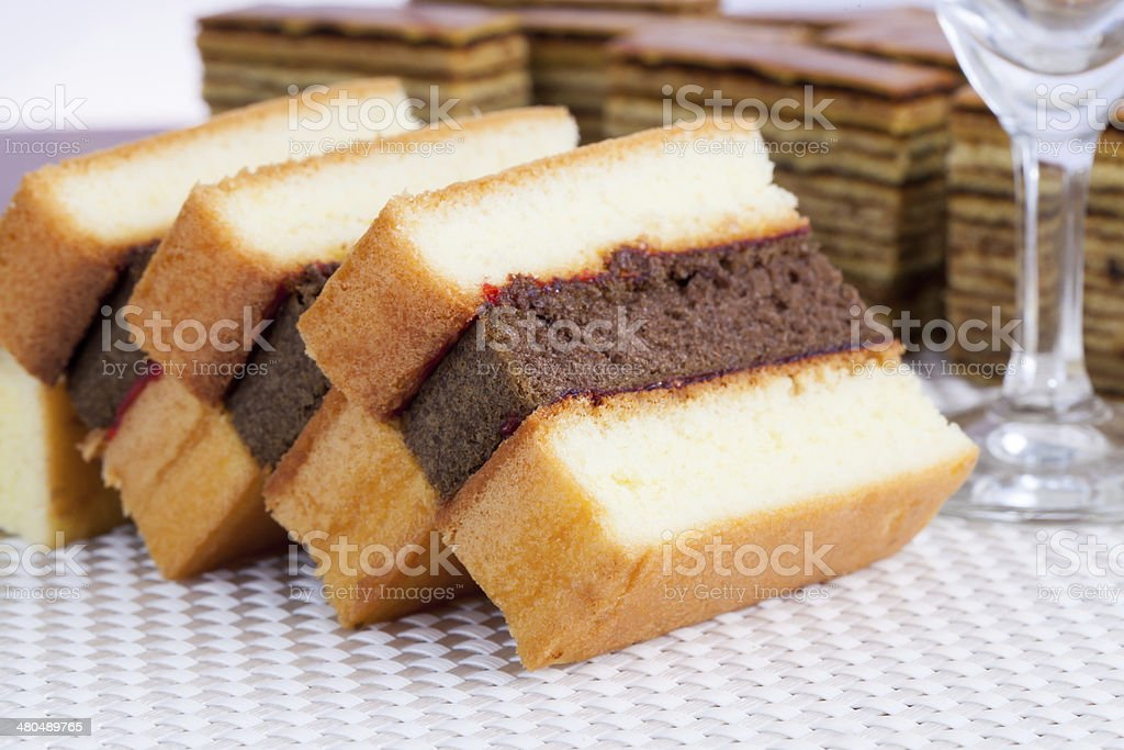 Indonesian Food Kue Bolu Cake stock photo