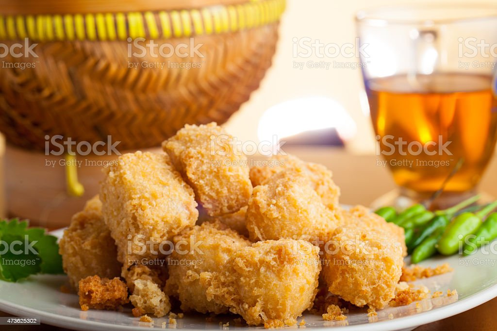 Indonesian Food Crispy Tofu Traditional stock photo