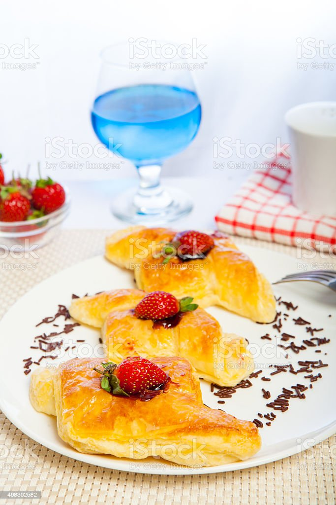 Indonesian Food Danish Blueberry Bread royalty-free stock photo