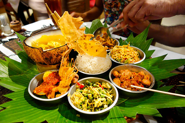 indonezyjski żywności święto - kultura indonezyjska zdjęcia i obrazy z banku zdjęć