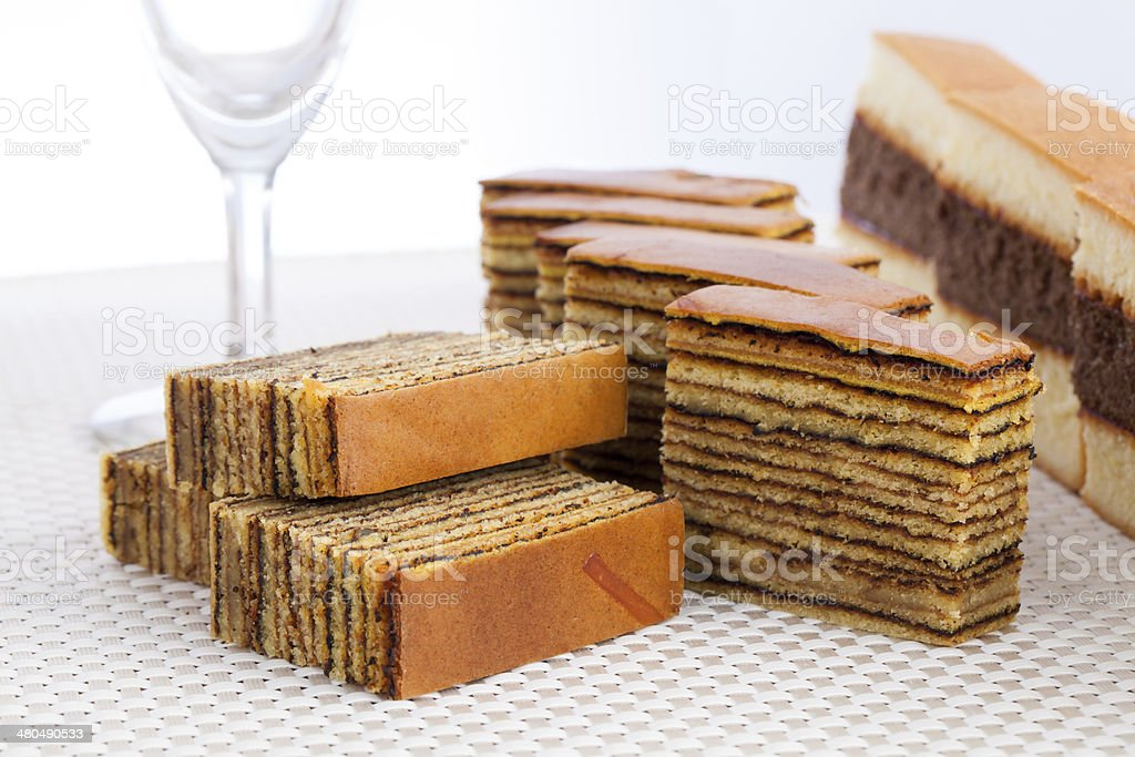 Indonesian Food Lapis Legit stock photo
