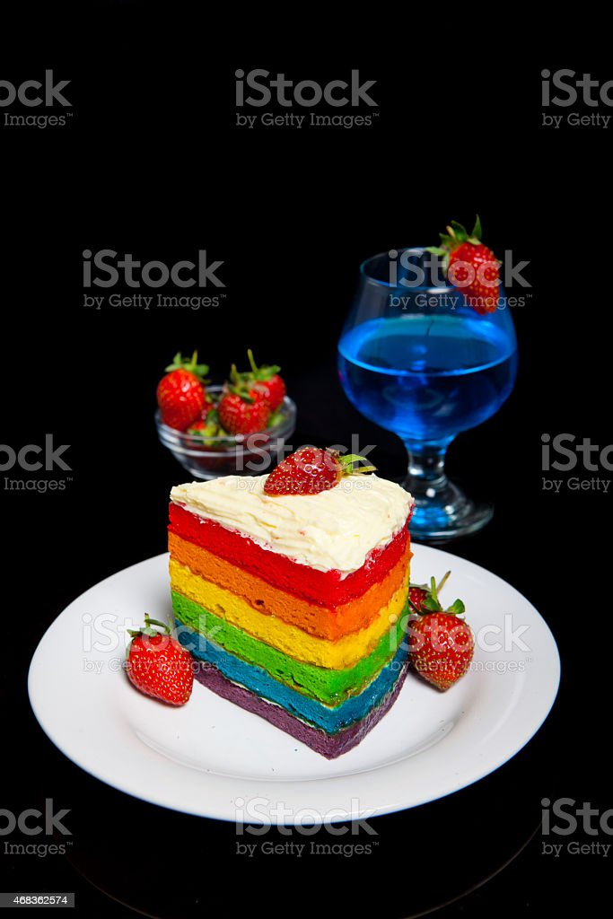 Indonesian Food Rainbow Cake royalty-free stock photo
