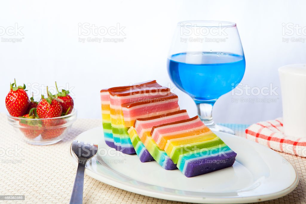 Indonesian Food Rainbow Layer royalty-free stock photo