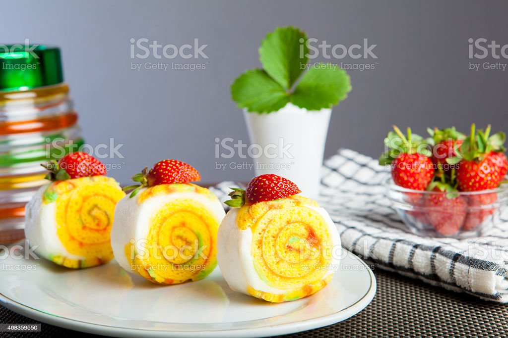 Indonesian Food Roll Jelly Ager Gulung royalty-free stock photo