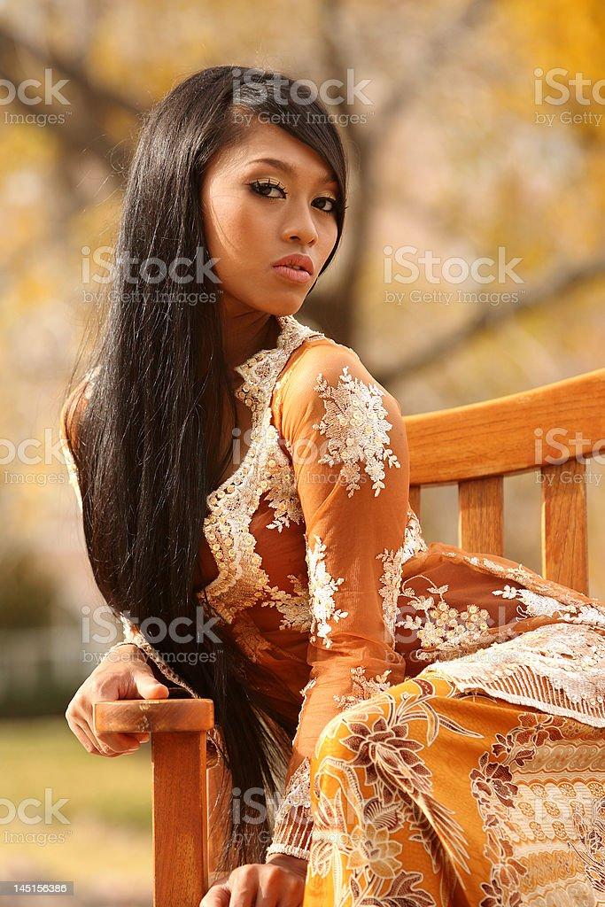 Indonesian girl royalty-free stock photo