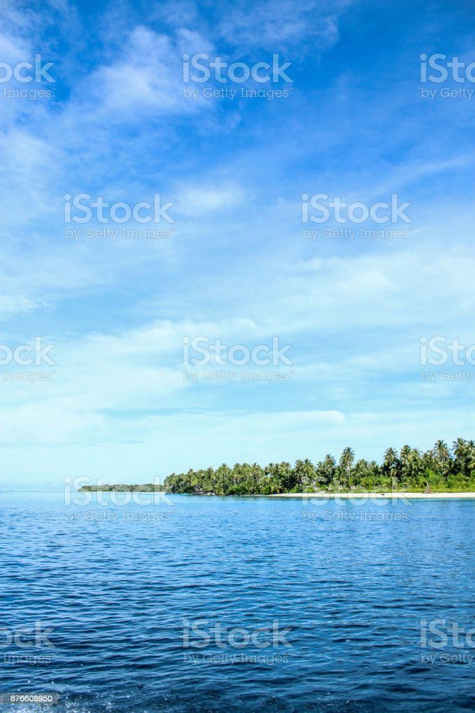 Indonesian island stock photo