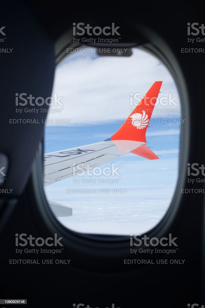 Admirable Indonesian Lowcost Airline Lion Air Logo On Flying Plane Beatyapartments Chair Design Images Beatyapartmentscom