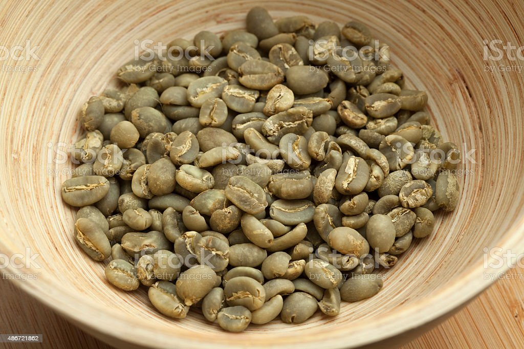 Unroasted Coffee Beans >> Indonesian Mandheling Unroasted Coffee Beans Stock Photo