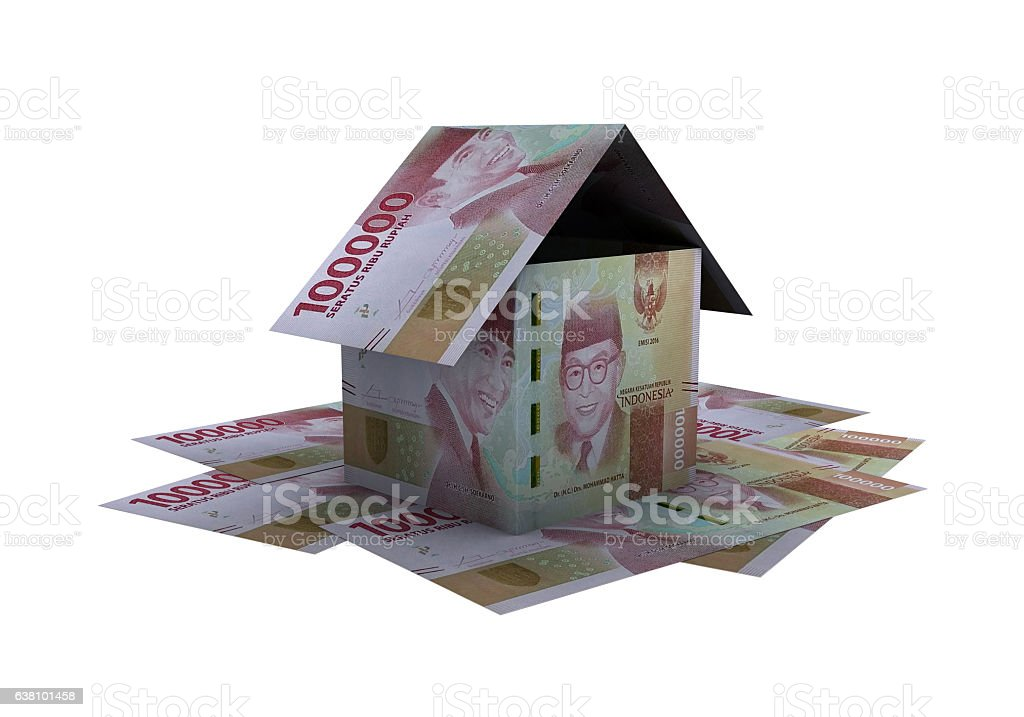 3D indonesian rupiah money property stock photo