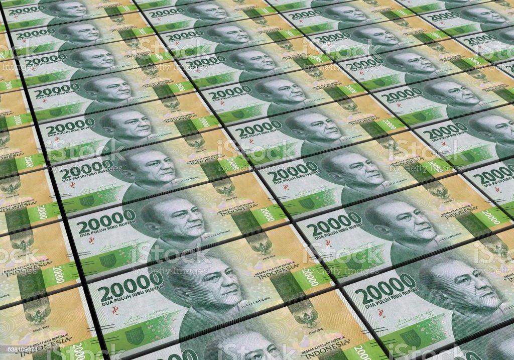 3D Indonesian rupiah money white background stock photo