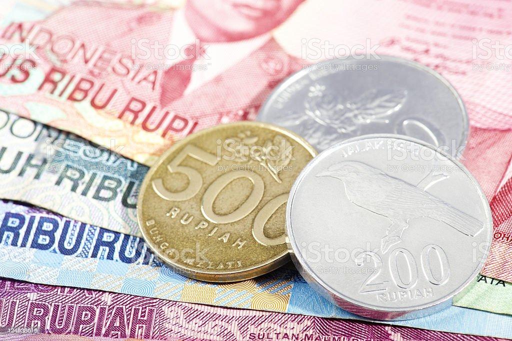 Indonesian Rupiahs royalty-free stock photo