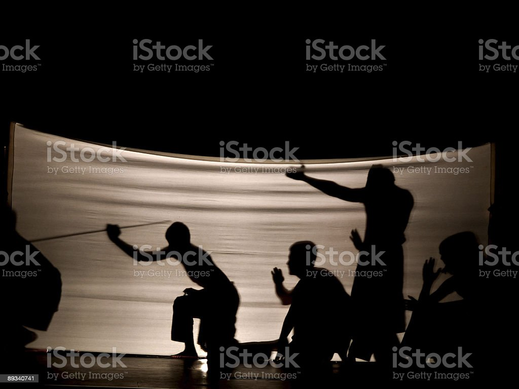 Indonesian Shadow play stock photo