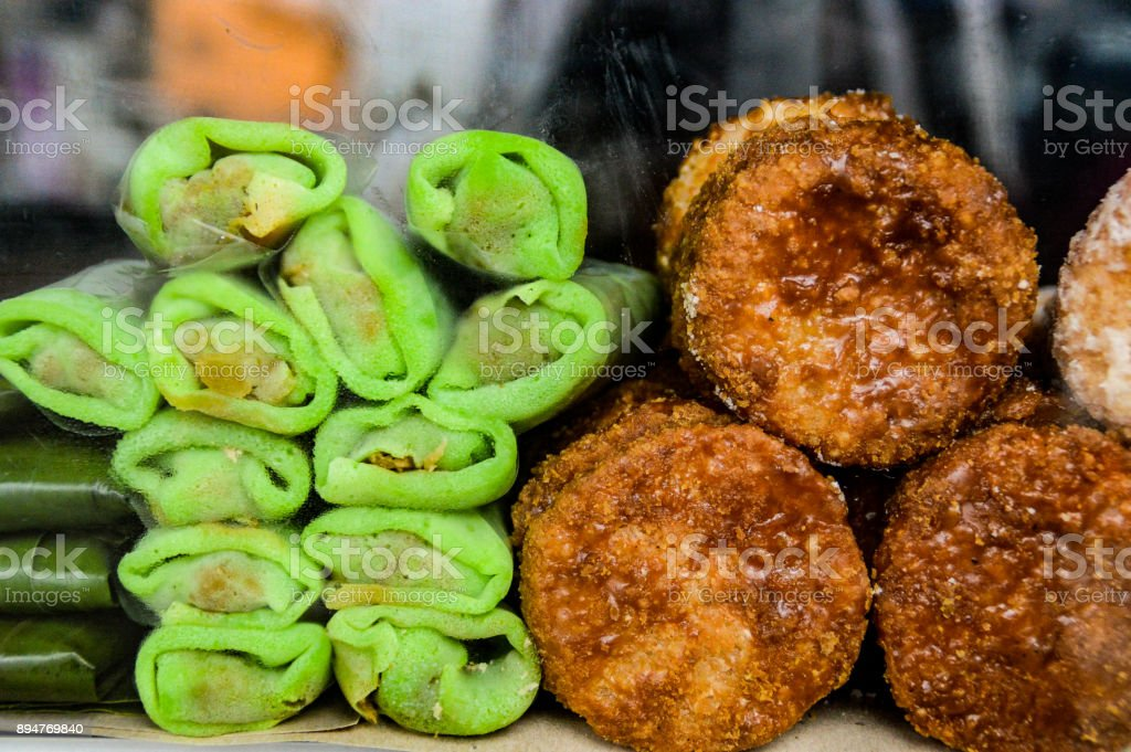 Indonesian snacks stock photo