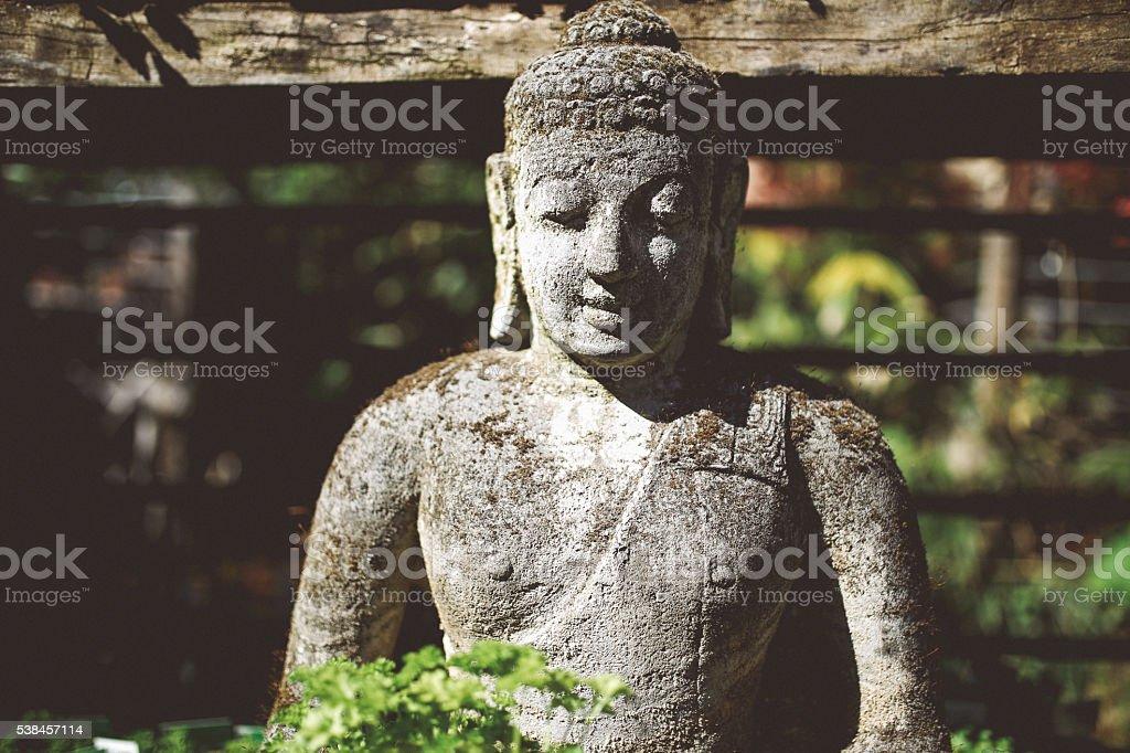 Indonesian stone statue stock photo