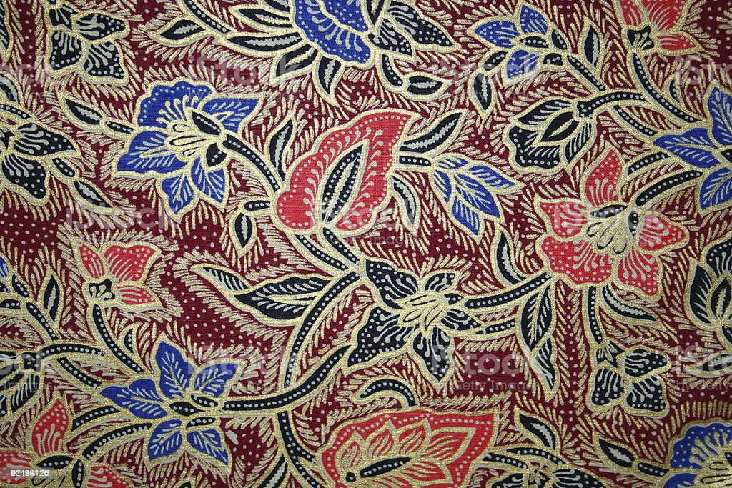 indonesian textile 2 stock photo