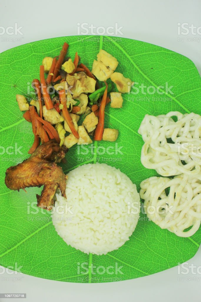 Indonesian Traditional Food stock photo