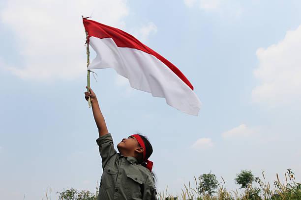 dia da independência da indonésia - bandeira da indonesia - fotografias e filmes do acervo