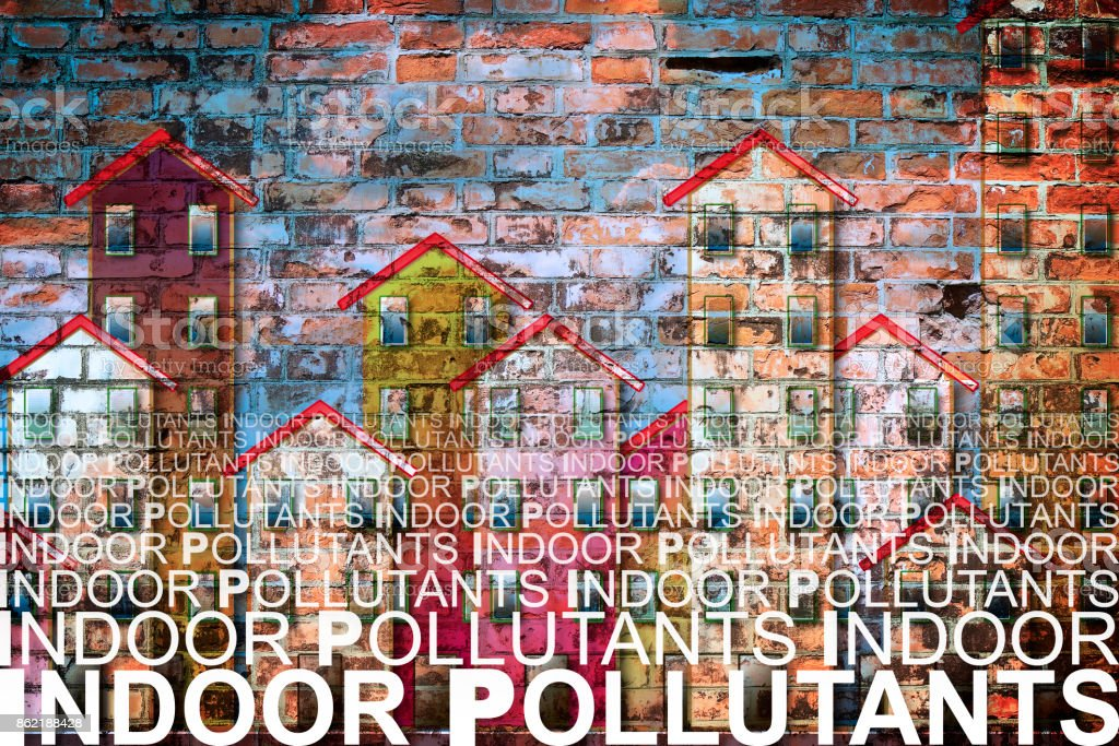 Indoor Air Pollutants Against A Buildings Background Concetp Image With  Copy Space Stock Photo - Download Image Now - IStock