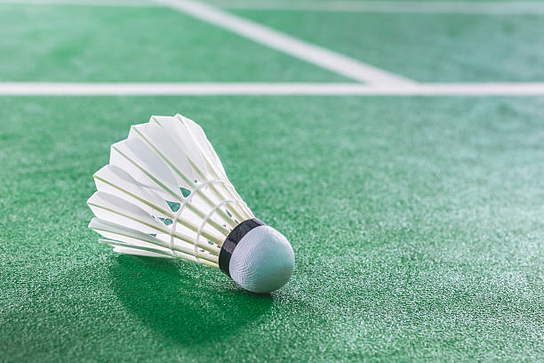 Ballon de Badminton sur green court de Badminton - Photo