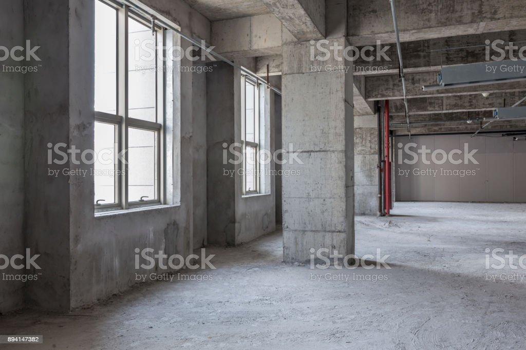 Indoor construction site stock photo