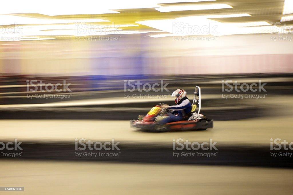 indoor go karting. Aik American stock photo
