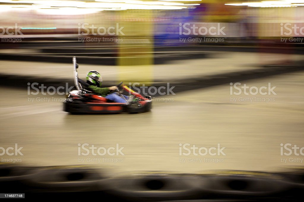 indoor go karting royalty-free stock photo