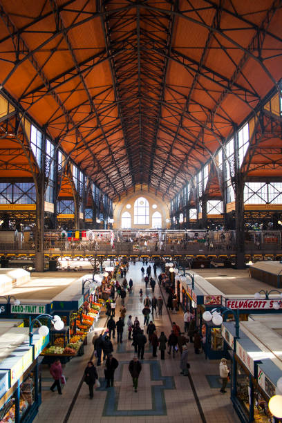 Indoor market in Budapest, Hungary stock photo