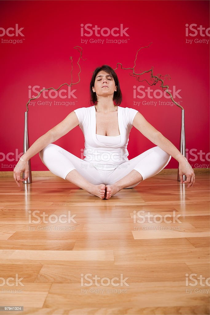 Indoor meditation royalty-free stock photo