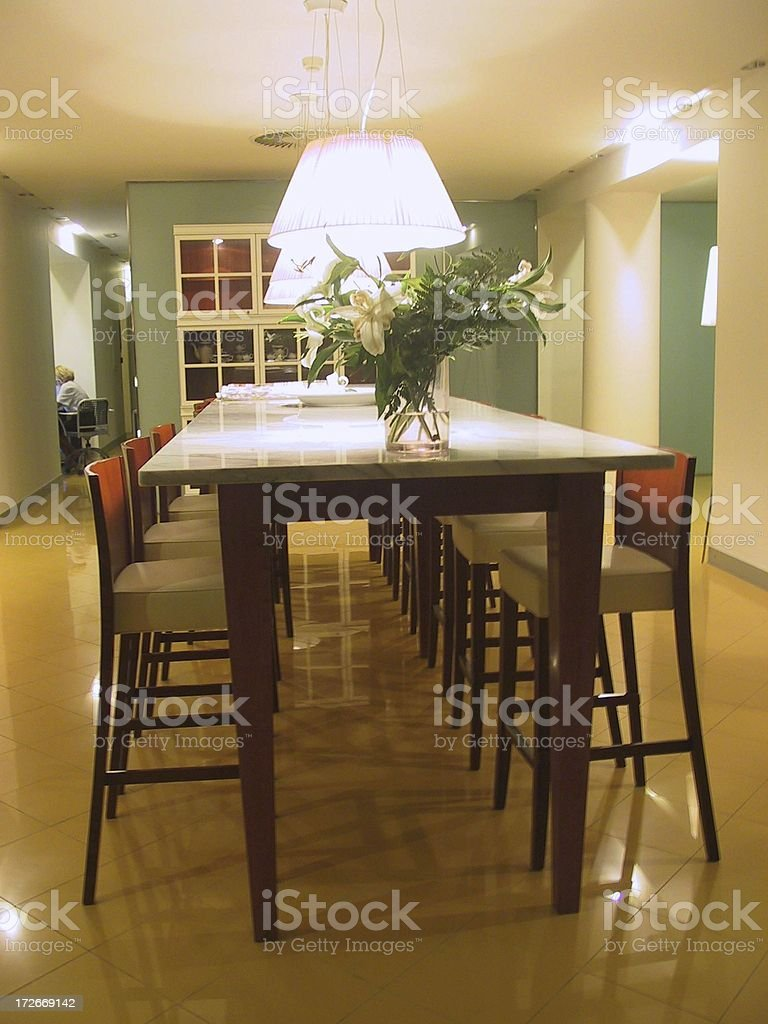 Indoor, meeting room table royalty-free stock photo