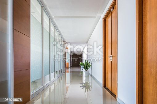 Indoor office corridor