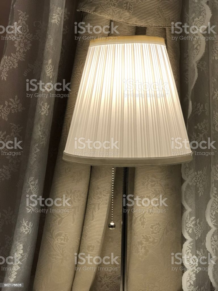 Indoor Photo Of The Room With Colored Curtains And A Floor Lamp Stock Photo Download Image Now Istock