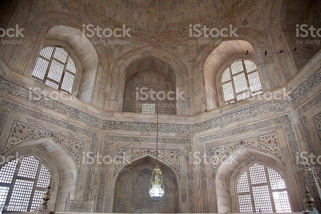 Indoor Photo Of The Taj Mahal Mausoleum In Agra, India. Stock Photo