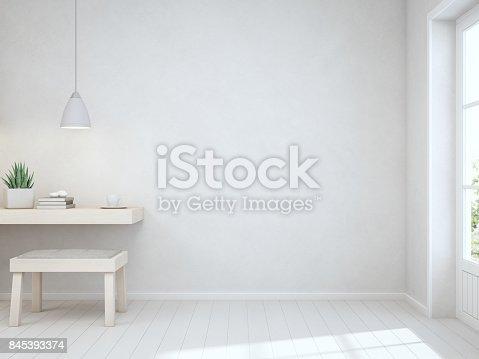 3D rendering of white interior