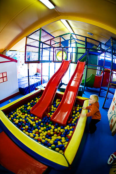 Indoor playground stock photo